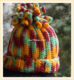 free crochet pattern, ladies headwear, girls beanie