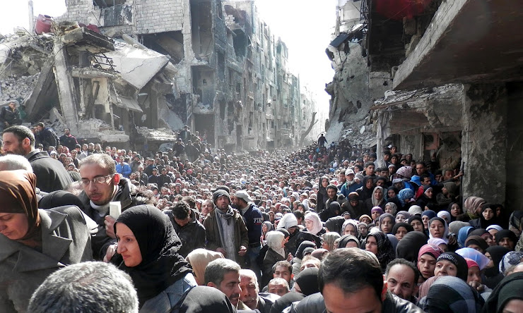 Palestinian refugees in Yarmouk