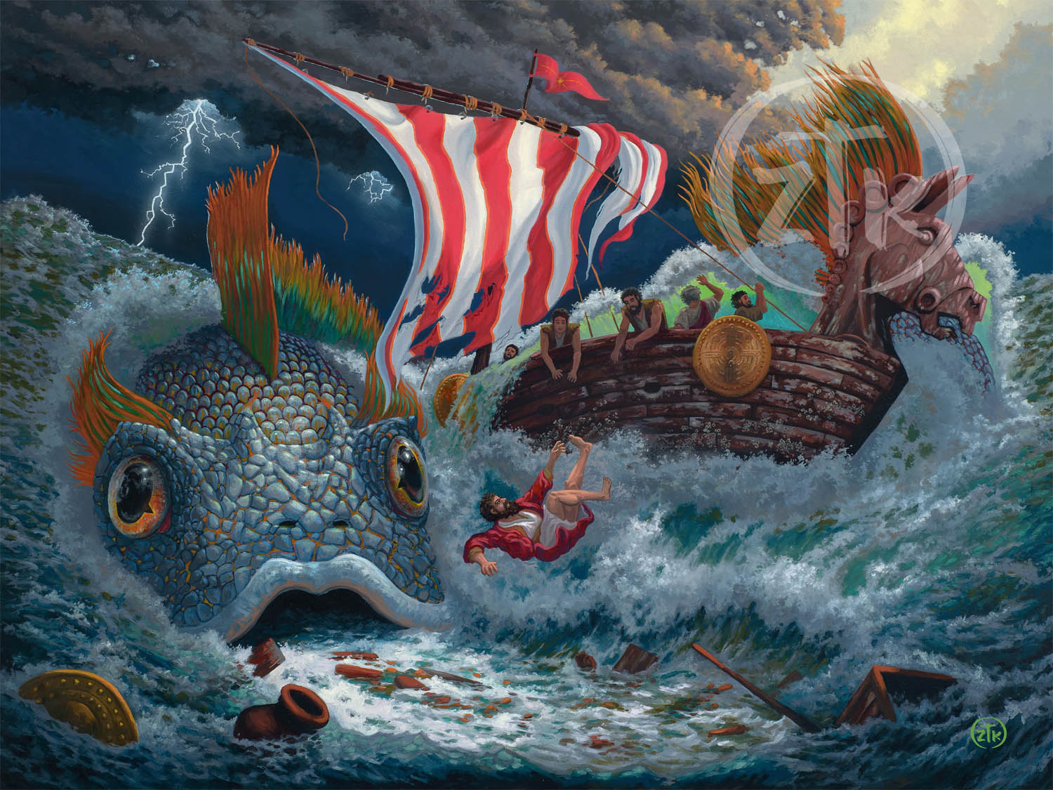 While Jonah was discovering these wonderful truths in the fish belly deep below, the sailors in the ship above were already doing what Jonah was promising God: worshipping the Lord and offering Him sacrifices (Jonah 1:16).