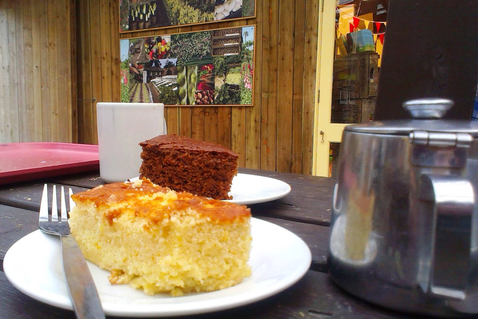 The Lost Gardens of Heligan, Cornwall - lemon drizzle cake and toffee cake