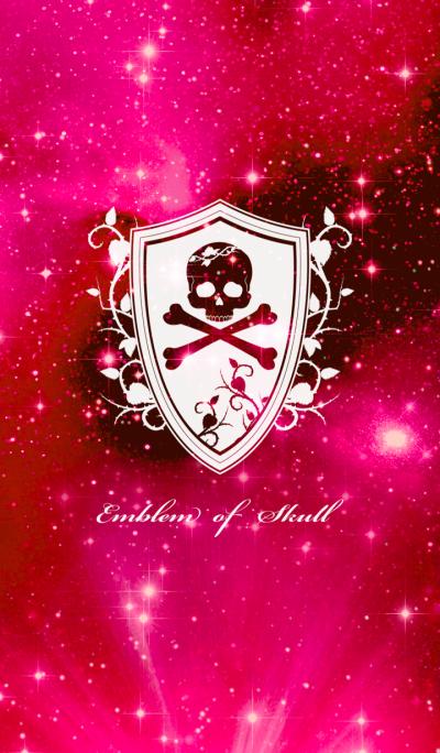 Emblem of Skull Red