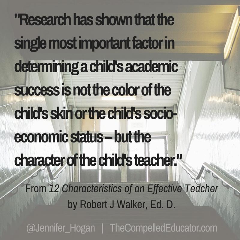 12 characteristics of an effective teacher robert j walker pdf