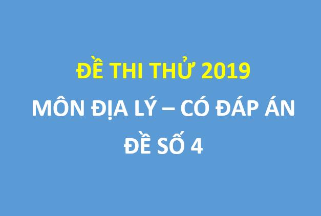 Đề thi thử địa lý lần 1 trường chuyên Nguyễn Trãi
