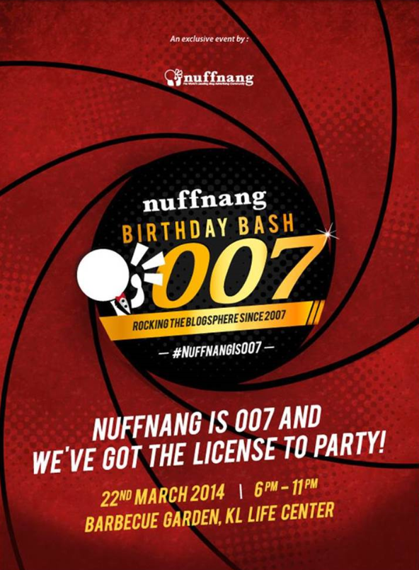 Jemputan ke Nuffnang Birthday Bash 007!!