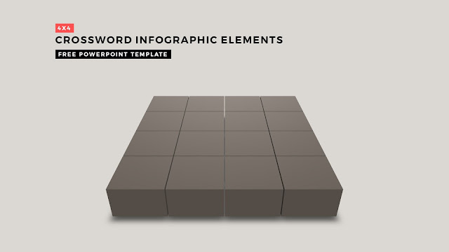 Crossword Puzzles Infographic Elements with 4x4 Basi Frame for PowerPoint Templates