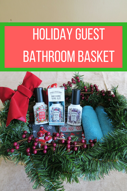 Holiday guest bathroom basket