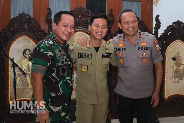 Plt. Bupati Trenggalek Sambut Kunjungan Danjen Akademi TNI dan Kalemdiklat Polri
