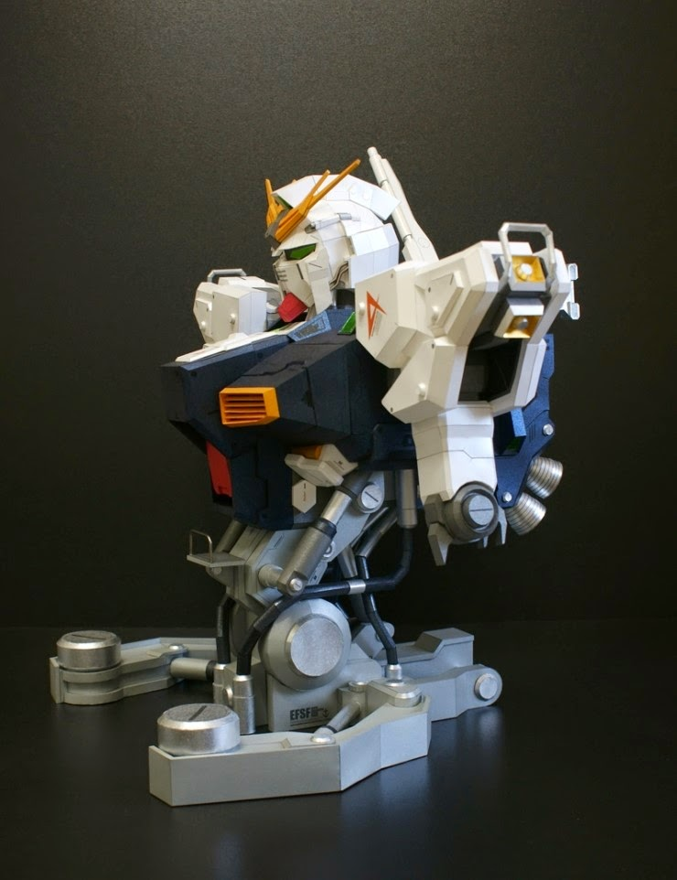 New Type Papercraft Formania Rx 93 Nu Gundam Bust By Kyuri