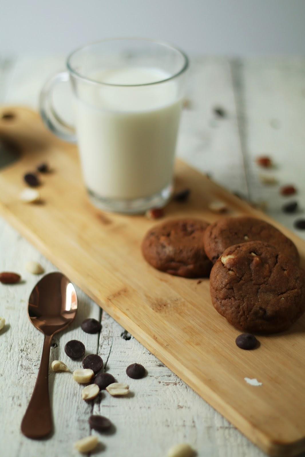 Recette cookies chocolat cacahuètes