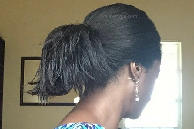 See what hot oil treatment I did during my wash day at 10 weeks post my relaxer touch up. | arelaxedgal.com
