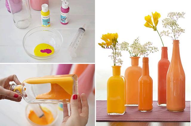 Ideas para decorar con botellas de vidrio - Que hacer con botellas de vidrio ...