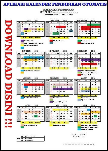 fig. Download Aplikasi Kalender Pendidikan Otomatis.xls