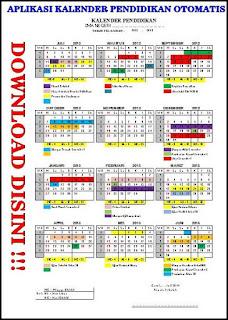 Aplikasi kalender pendidikan otomatis excel