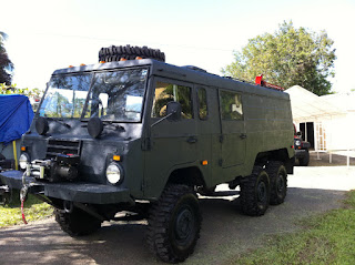Military vehicle painted with bedliner