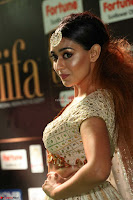 Apoorva Spicy Pics in Cream Deep Neck Choli Ghagra WOW at IIFA Utsavam Awards 2017 57.JPG