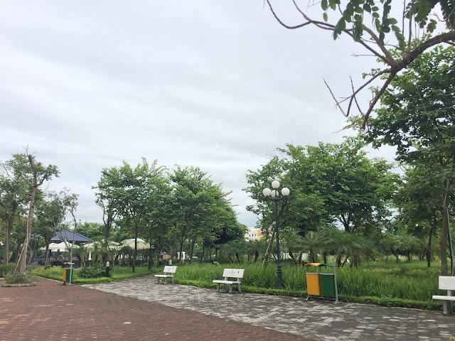 Không gian xanh tại khuôn viên dự án Eco city