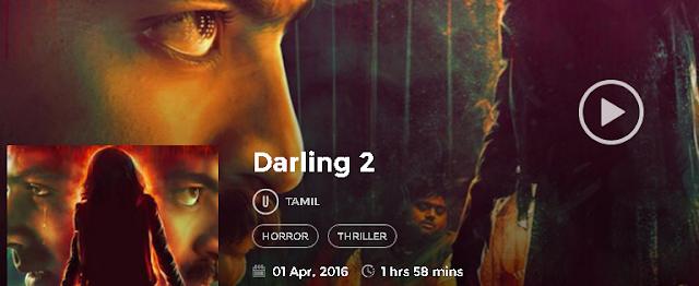 Darling 2 (2016) Tamil Full DvDRip Movie Free 300MB