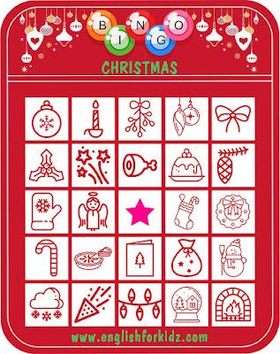 Christmas bingo ESL