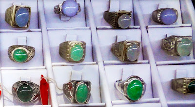 fine jade silver rings with different colors
