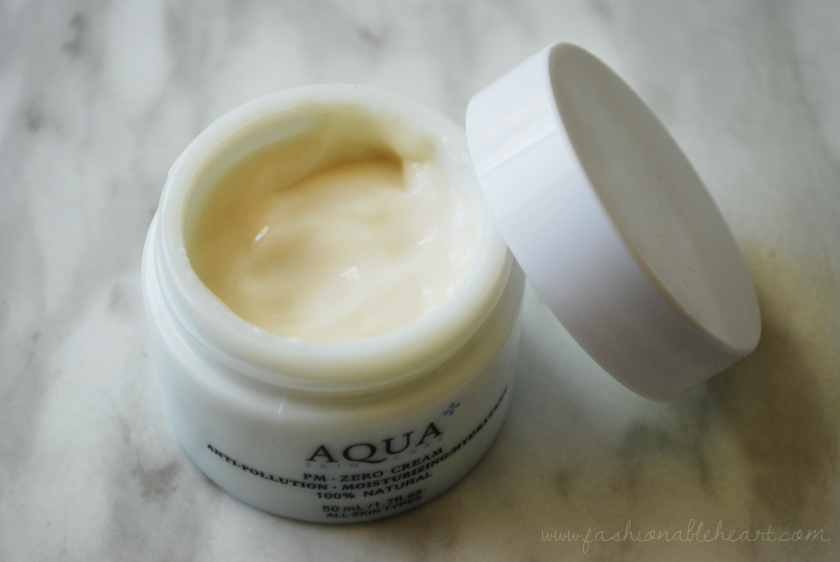 bbloggers, bbloggersca, aqua skincare, aqua+, pm zero anti-pollution cream, moisturizer, review, natural, made in canada, skin care, lotion