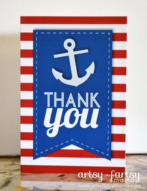 Printable Nautical Thank You Cards Artsy Fartsy Mama