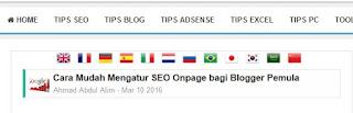 Cara Memasang Widget Bendera Translate pada Blog