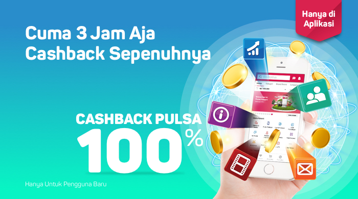 Bukalapak - Voucher Promo Pengguna Baru Beli Pulsa Cashback 100%