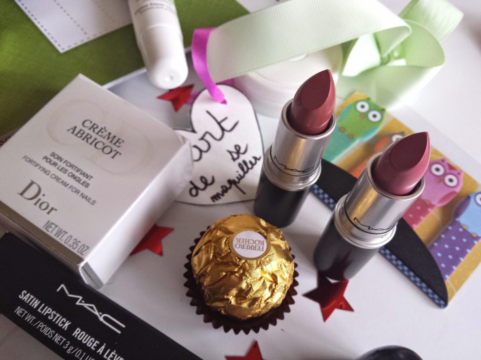 mac lipstick rouge a levre pink plaid brave ferrero rocher