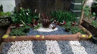 Menerima jasa pembuatan Taman kering minimalis bisa dengan cara per meter atau harga borongan