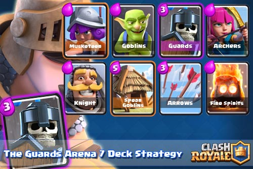 Strategi Deck Guards Arena 7 Clash Royale