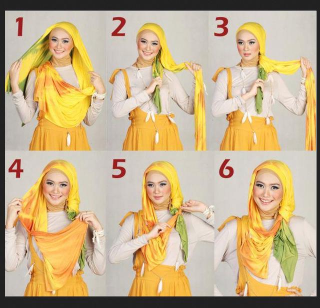 Cara Menggunakan Jilbab