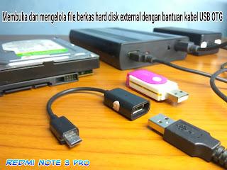 Atasi hard disk tidak terdeteksi di android Xiaomi Note 3 Pro via USB OTG