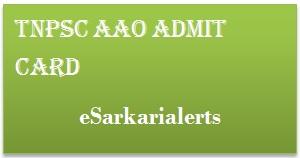 TNPSC AAO Admit Card