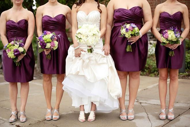 Bold Plum meets Simplistic Elegance Wedding - Belle The Magazine 21f7fa1248
