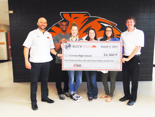Ferguson Buick GMC makes 'Buick Drive For Your Students' donation to Coweta High School