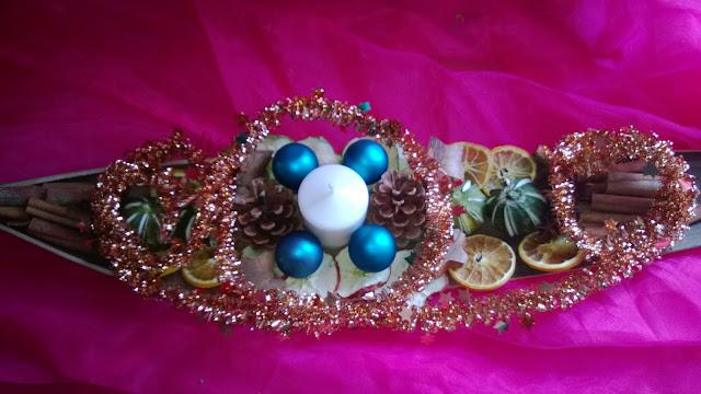 Tisch deko von Oben