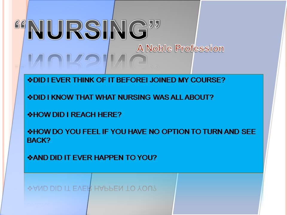 Nursing as a profession essay