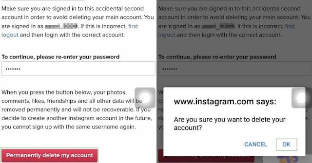 Menonaktifkan Akun Instagram Secara Permanen