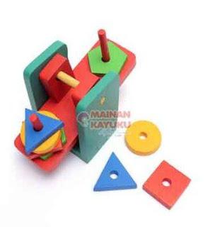 Mainan Anak Timbangan Geometri