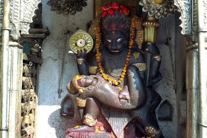 Népal, Katmandou, Narasimha, Hanuman Dhoka, © L. Gigout, 1990
