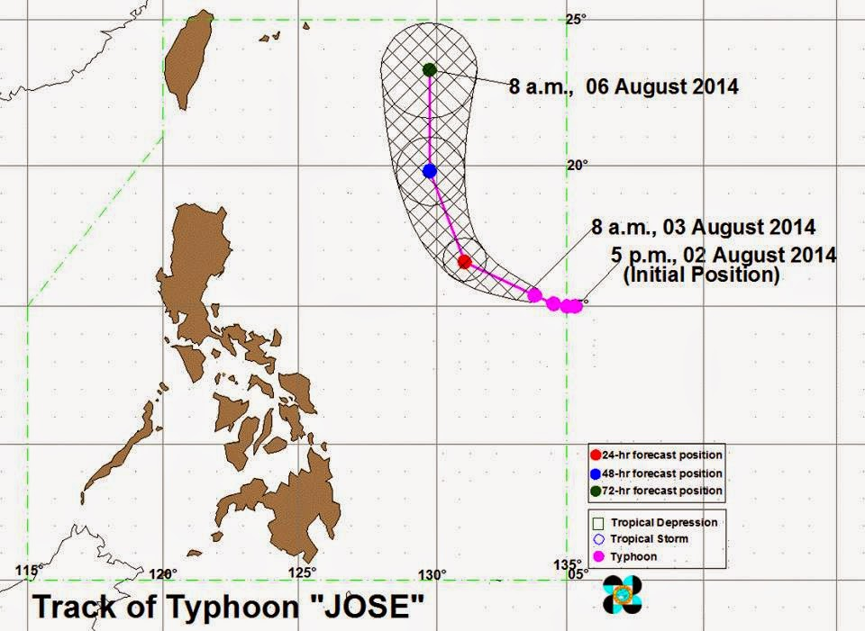 'Bagyong Jose' gains more strength, moves northwest