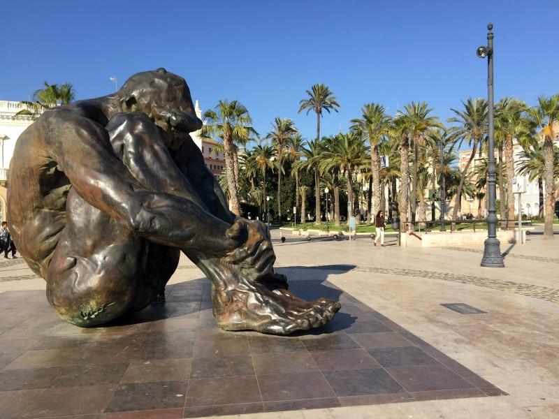 El Zulo sculpture by the port in Cartagena