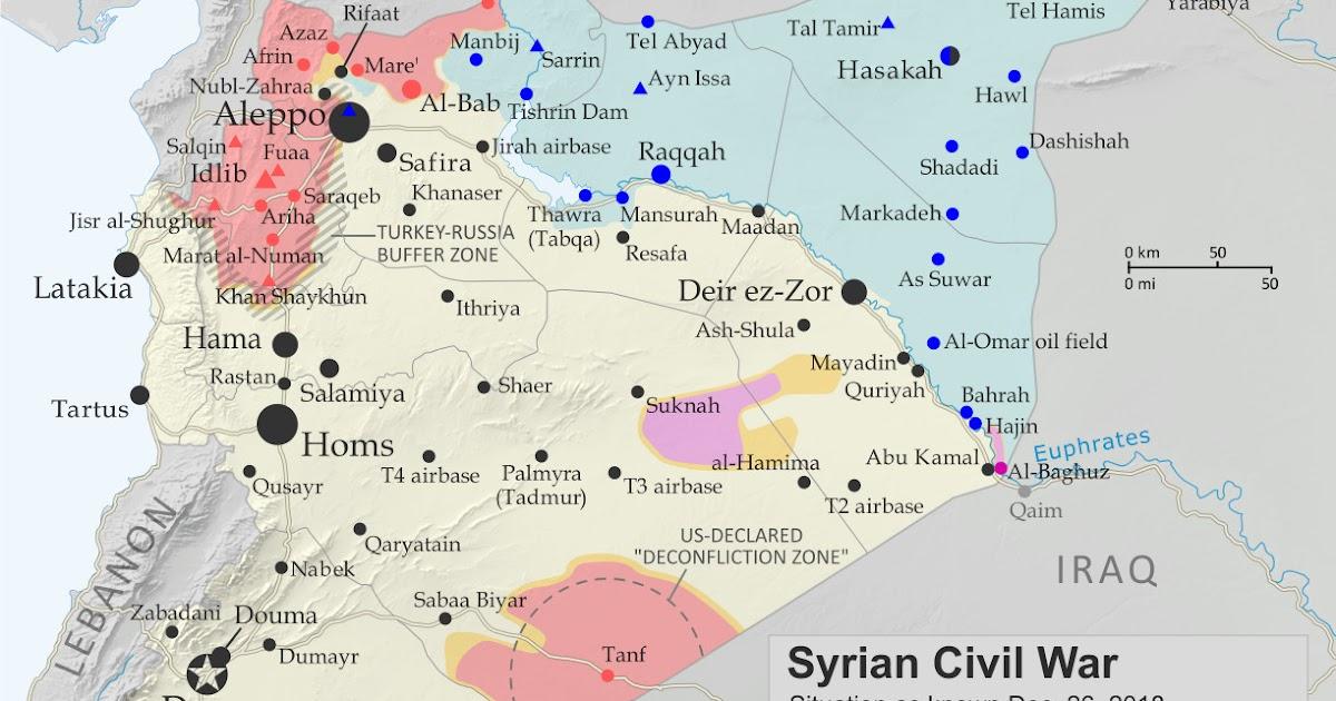 Syrian Civil War Map & Timeline: IS Loses Western Enclave - December ...