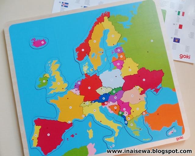Ina I Sewa Drewniane Puzzle Mapa Europy Czyli Nauka Przez Zabawe