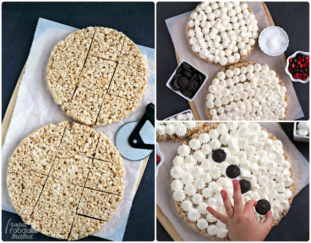 These Snowman Pull-Apart Rice Krispies® Treats are already cut & ready for sharing making them perfect for that holiday party or get-together.