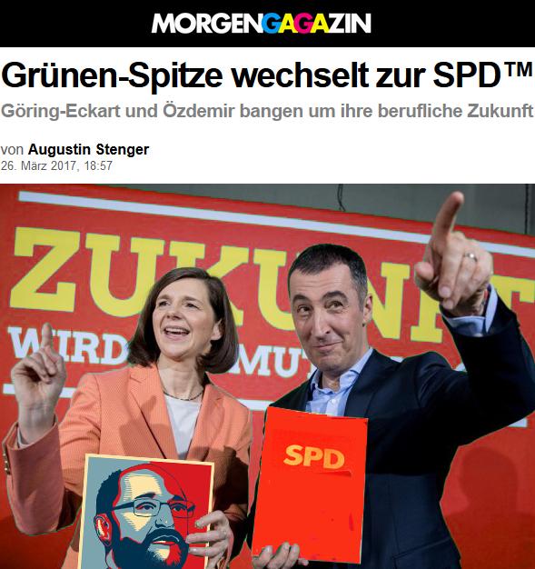 Morgengagazin: Grünen-Spitze wechselt zur SPD™