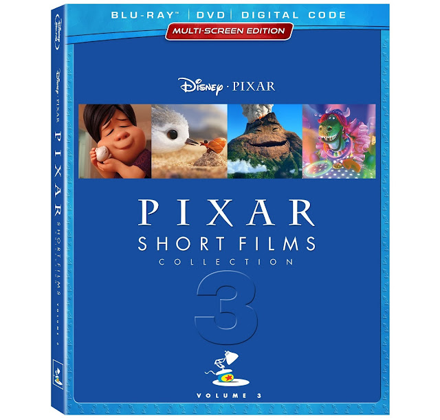Pixar Short Films Collection Volume 3 Blu-ray case art