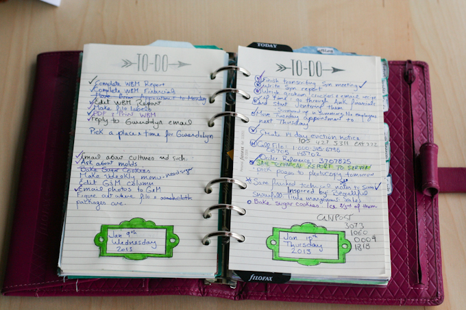 Plannerisms: Guest post: How Stephanie uses her Filofax and