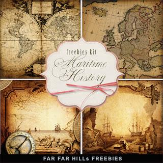Freebies Kit of Backgrounds - Maritime History