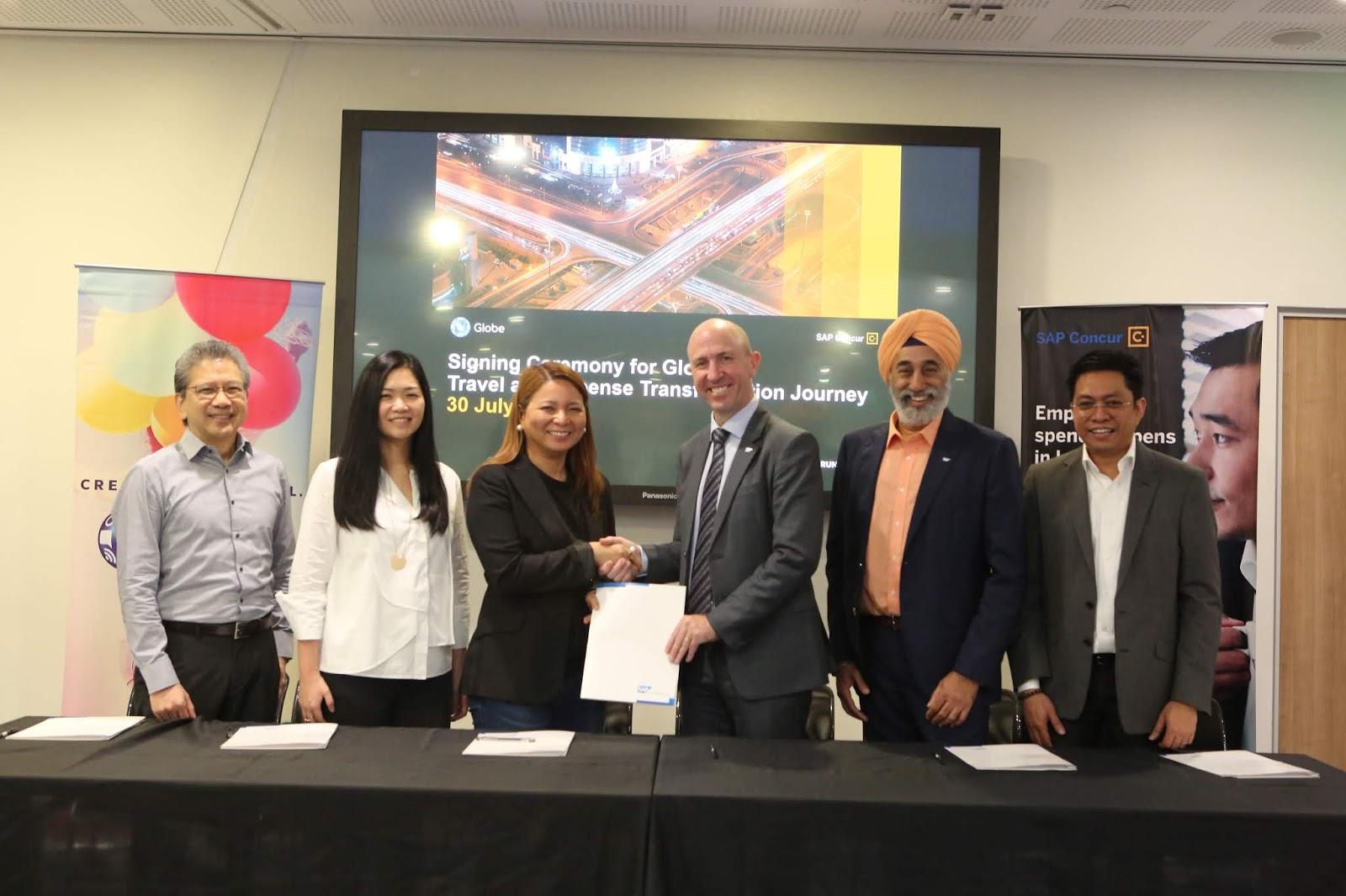 globe telecom signs partnership - HD5760×3840